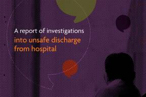Cover graphic from unsafe discharge report