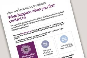 Image from when you first contact us leaflet